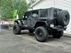 Jeep Wrangler with Flat Style Flares