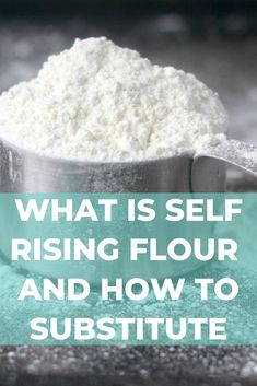 Self-rising flour combines three of the most common baking ingredients into one. To make your own self-rising flour substitute you can use these three common pantry ingredients: all-purpose flour, baking powder, and salt! Self Rising Flour Substitute, Make Self Rising Flour, Sugar Cookie Recipe With Self Rising Flour, Baking Flour, Bread Baking, Baking Tips, Baking Recipes, Baking Secrets, Baking Science