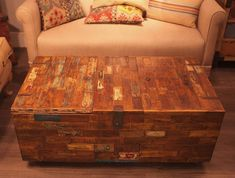 Reclaimed Teak Chest And Coffee Table