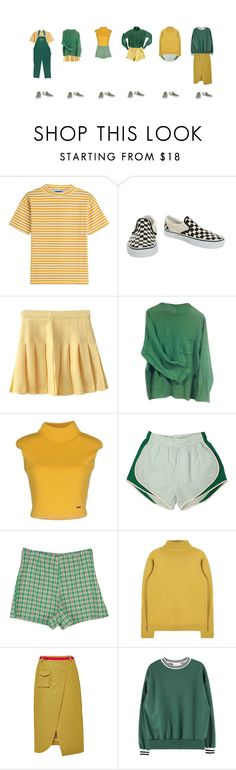 """*green-yellow outfits*"" by rojinnn ❤ liked on Polyvore featuring M.i.h Jeans, Vans, Paul Smith, Dsquared2, Ostwald Helgason and Lacoste"