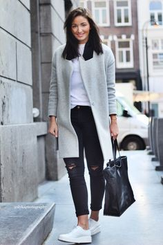 Black Ripped Jeans (Asos), sneakers