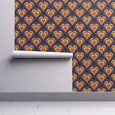 Isobar Durable Wallpaper featuring Rainbow Heart by flutterbi   Roostery Home Decor