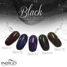 Indigo Glitter Gel Black 01 - Indigo
