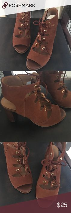 Suede Modern heels Used only like three times.  Great condition Nine West Shoes Heels