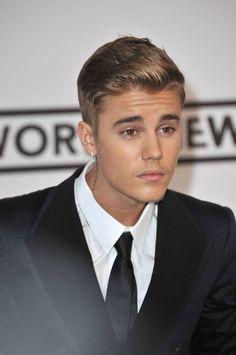 Justine Bieber formal hairstyle