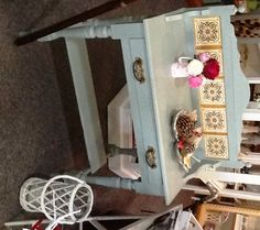 Annie Sloan Duck Egg Blue Victorian Wash Stand by Little Gems Interiors