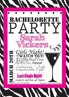 Bachelorette Party Invitation Digital Print by FunablesCreations, $8.00