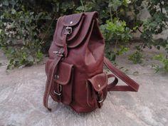New Vintage Leather Handmade Backpack Bag Shoulder by vrcreatives, $59.00