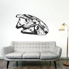 Millennium Falcon Wall Decal _ Star Wars Falcon Wall Designs _ Star Wars Ship Murals _ Star Wars Wall Graphic  _ Trendywalldesigns