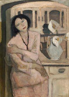 Nella Marchesini - Girl with Calla Lillies, 1930 (Italian 1901-1953)