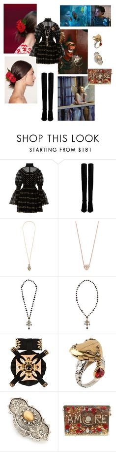 """Romeo +Juliet"" by raspberrylife ❤ liked on Polyvore featuring Dolce&Gabbana, Alexander McQueen, Stuart Weitzman, Shay, shakespeare, dicaprio, ITALIAN, radiohead and romeojuliet"