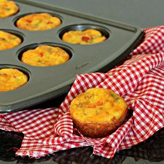 Breakfast Egg Muffins ~ great for eating on the go or at home. great for making ahead  and reheating