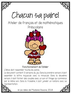 Busy Bags, France, The Thing Is, Alphabet, Clip Art, Mini, Creative, Kindergarten Classroom, Kindergarten Lesson Plans