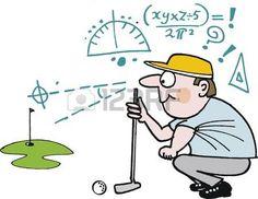 de dibujos animados de la planificaci�n de disparo de golf verde photo