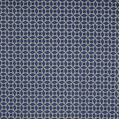 You can't go wrong with this sassy sapphire blue geometric cotton print! Of a lighter weight for a sateen, this 32s combed cotton fabric would work best sewn into Spring and Summer dresses, skirts, children's wear and pajamas. Cotton sateens can also be made into bedspreads and slip covers. With the addition of spandex, fitted garments are definitely an option due to a nice amount of give in the weft. For those who aren't familiar with the term 32s, it refers to the thread count of this…