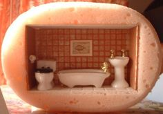 it looks like a bathroom in sponge--how cute (although soap might be more practical)