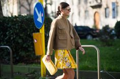 Giovanna Battaglia_On the Streets of Milan Fashion Week Fall 2014  - MFW Day 5