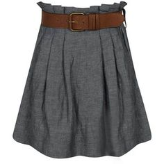 chambray skirt. need one of these.