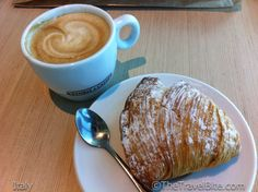 Cappuccino and a tasty sfogliatelle my favorite breakfast while in beautiful Italy :)