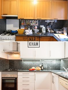Kitchen make-over. Before and After. Markham Stagers, Barcelona. www.markhamstagers.com Home Staging, Barcelona, Accent Decor, Kitchen Decor, Kitchen Cabinets, Decorative Accents, Kitchen Inspiration, Room, Kitchens