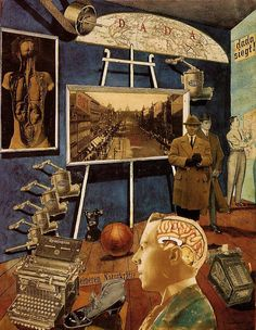 Raoul Hausmann, Dada siegt! (Collage, Indian ink, watercolor and pencil on paper) , c. 1920