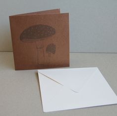 Brassy card with stamp