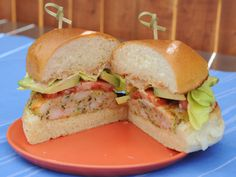 Shrimp Burgers with Old Bay Mayo  Add 1 tsp.  old bay, 1 tbsp hot sauce, parsley, 1/2 tsp fresh garlic instead of powder