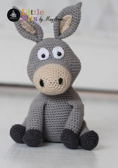 Hækleopskrift på Æslet Donkey i Mayflower økologiske bomuld - Cotton Organic Crochet Patterns Amigurumi, Baby Knitting Patterns, Knitted Dolls, Crochet Dolls, Crochet For Kids, Crochet Baby, Baby Toys, Kids Toys, Crotchet Animals