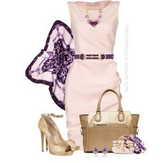 """""""Pink, Gold, & Purple"""" by celinecucci on Polyvore"""