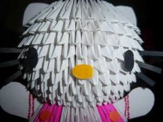 Turn into owl? Origami Videos, 3d Origami, Paper Artwork, Japanese Art, Jun, Artworks, Hello Kitty, Shapes, Youtube