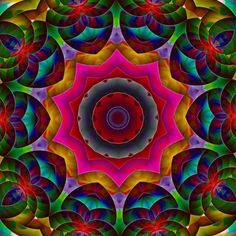 Rainbow mandala Fractals, Mandala, Rainbow, Painting, Design, Art, Rain Bow, Art Background, Rainbows