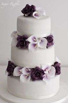 Featured Cake: Sugar Ruffles; Wedding cake idea.