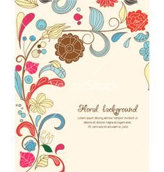 Floral background vector on VectorStock®
