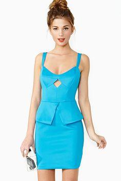 Diamond Girl Peplum Dress
