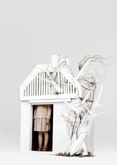 The Tree House-Dreaming in Cardboard | Kinfolk. Photo by Neil Bedford, Set design by Helen MacIntyre