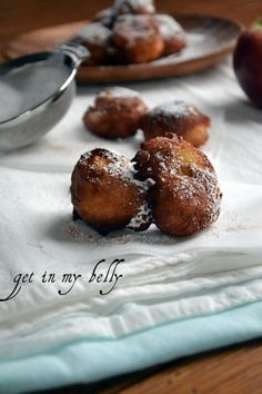Gluten Free Apple Fritters - Made these this morning with some of our apples. delicious and my husband didn't even know they were gluten free. Will definitely make again. Gluten Free Sweets, Gluten Free Cakes, Gluten Free Cooking, Apple Fritters, Pumpkin Fritters, Delicious Desserts, Dessert Recipes, Allergy Free Recipes, Gluten Free Breakfasts