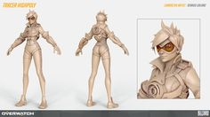 Hi, my name is Renaud Galand and I'm the lead character artist on Overwatch here at Blizzard Entertainment. It's my immense pleasure to introduce you to the Overwatch character team and share with you some of the high-… Zbrush Character, 3d Model Character, Character Modeling, Character Creation, Character Concept, Character Art, Character Design, 3d Modeling, Concept Art