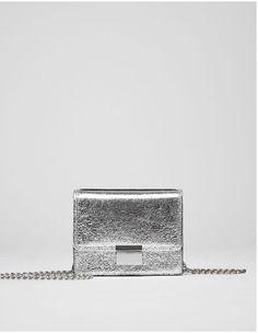 Metallic Mini crossbody bag with clasp