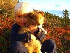 La-min-so Beatyfulls Tina Shetland sheepdog eier Trine larsen Tina sitter på fange til Sønnen min Malthe Andre