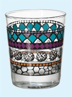 MURKLA vaso de cristal, €0,79, 23 cl. Diseño multicolor [602-358-83]