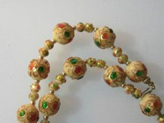 Antique Venetian Glass Lampwork Elaborate Bead Necklace   eBay