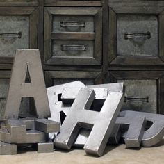 Hey, I found this really awesome Etsy listing at https://www.etsy.com/listing/154598459/8-or-12-industrial-faux-metal-letters