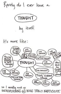 Scattered thoughts. Funny but true.