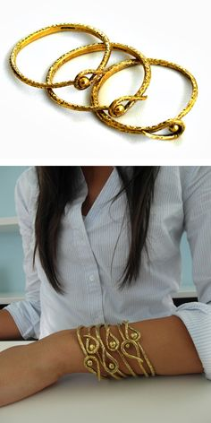 Recycled bomb shell bracelet providing fair wages and sustainable living to war survivors in Cambodia. Learn more at: http://shopanthropic.com/leaf-lock-bracelet-12092