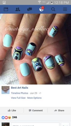 Beautiful nail colors Blue moon nails Bright summer nails Ethnic nails Ideas of blue nails Kid nails with pattern Stylish nails Summer colorful nails Bright Summer Nails, Bright Nails, Blue Nails, Colorful Nails, Bright Makeup, Blue Makeup, Nail Art Design Gallery, Best Nail Art Designs, Stylish Nails