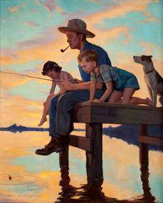 Fishing Time, John Newton Howitt (1885 - 1958)