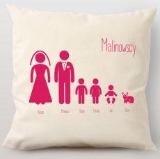 Poduszka personalizowana RODZINA idealny na urodziny