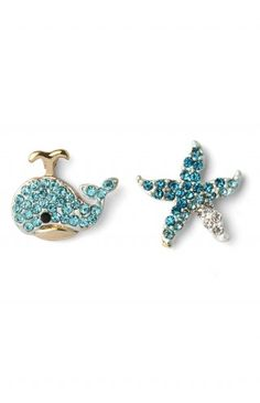 Dolphin Starfish Earring Set - Retro, Indie and Unique Fashion