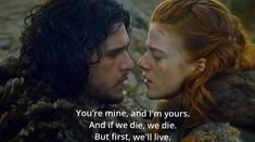 Ygritte and Jon Snow ♡ on We Heart It http://weheartit.com/entry/96422823/via/behappymyloveee
