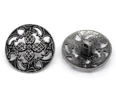 5 Large #Gun #Metal Tone #Buttons. NOT Plastic. Great for Bracelets, crafts and more. #handmade #thecraftstar $3.99